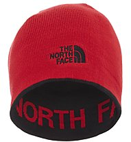 The North Face Reversible TNF Banner - berretto trekking, Black/Red