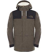 The North Face Sherpa Mountain Jacket - Winterjacke mit Kapuze Herren, Black/Green