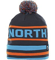 The North Face Ski Tuke V - Bommelmütze, Blue/Light Blue/Orange
