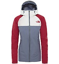 The North Face Stratos - Regenjacke - Damen, Grey/Red