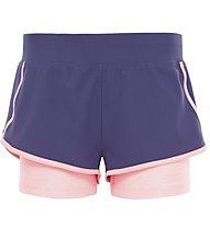 The North Face W Dynamix Stretch Short Pantaloni corti fitness Donna, Dark Blue/Light Orange