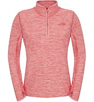 The North Face W Motivation 1/4 Zip Damen Fitness Pullover mit 1/4 Reißverschluss, Red