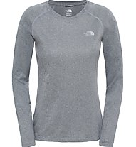 The North Face W Reax Amp L/S Maglia maniche lunghe fitness donna, Grey