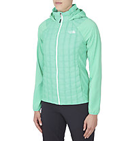 The North Face Thermoball Micro giacca ibrida con cappuccio donna, Green Ash/Surreal Green