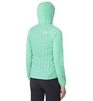 The North Face Thermoball Micro Hybrid Hoodie Damen, Green