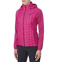 The North Face Thermoball Micro Hybrid Hoodie Damen, Glo Pink/Fuschia Pink