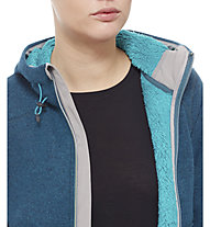 The North Face Zermatt Full Zip Hoodie Damen, Balsam Blue Heather