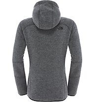 The North Face Zermatt Full Zip Hoodie Giacca in pile donna, Grey