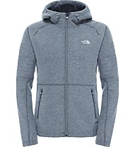 The North Face Zermatt Full Zip Hoodie Herren Fleecejacke, Grey