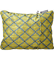 Therm-A-Rest Compressible Pillow Medium - cuscino da campeggio, Green/Blue