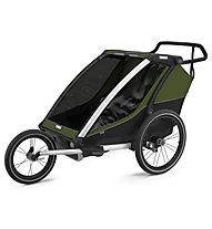 Thule Chariot Cab 2 - rimorchio bici, Dark Green/Black