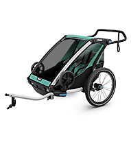 Thule Chariot Lite 2 - rimorchio bici, Light Blue/Green