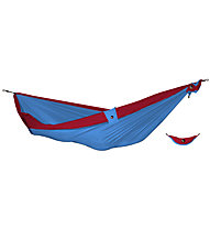 Ticket To The Moon Double Hammock, Light Blue/Red