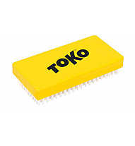 Toko Base Brush Nylon - spazzole per sciolina, Yellow/White