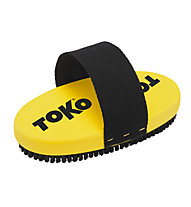 Toko Base Brush oval Horsehair Strap - Waxbürste, Yellow/Black