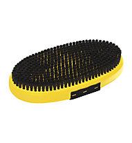 Toko Base Brush oval Horsehair with Strap - spazzola per rimozione sciolina, Yellow/Black