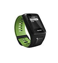 TomTom Runner 3 Cardio + Music GPS-Uhr mit Herzfrequenzmesser und Musik, Black/Green
