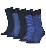Tommy Hilfiger TH Men 5P Brideye gift - calzini - uomo , Blue