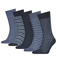 Tommy Hilfiger TH men 5p Fine Stripe - Socken - Herren , Blue