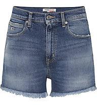 Tommy Jeans Hotpant Denim Short Ambc - pantaloni corti - donna, Blue