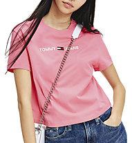 Tommy Jeans Modern Linear Logo - T-shirt - Damen, Pink