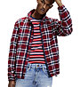 Tommy Jeans Plaid Track - giacca tempo libero - uomo, Red/Blue/White