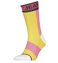 Tommy Jeans TJ Colorblock 1P - calzini - uomo , Yellow/Pink