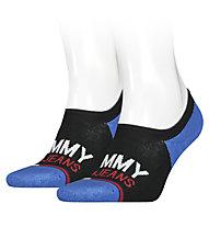 Tommy Jeans TJ No Show High Cut 2 P - kurze Socken - Herren , Black/Blue