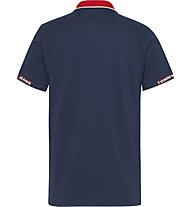 Tommy Jeans Tjm Detail Rib Jaquard - Polo - Herren, Blue/Red