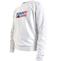 Tommy Jeans Tjm Ombre Corp Logo Crew - Pullover - Herren, White
