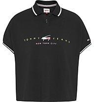 Tommy Jeans Tjw Bxy Crop Modern Logo - Poloshirt - Damen, Black