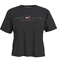 Tommy Jeans Tjw Bxy Crop Modern Logo Tee - T-Shirt - Damen, Black