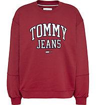 Tommy Jeans TJW Collegiate Logo Crew - Pullover - Damen , Red