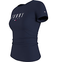 Tommy Jeans Tjw Essential Skinny Logo Tee - T-Shirt - donna, Dark Blue