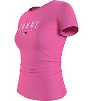 Tommy Jeans Tjw Essential Skinny Logo Tee - T-Shirt - Damen, Pink