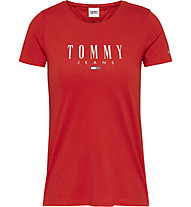 Tommy Jeans Tjw Essential Skinny Logo Tee - T-Shirt - donna, Red