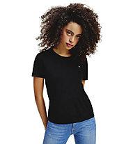 Tommy Jeans Slim jersey - T-shirt - donna, Black