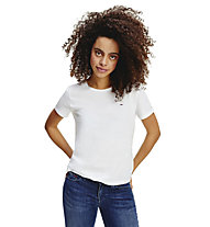 Tommy Jeans Slim jersey - T-shirt - donna, White