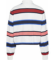 Tommy Jeans Striped Rugby - Polo - Damen, White/Red/Blue