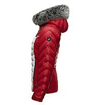 Toni Sailer Edie Fur - giacca da sci - donna, Red/White