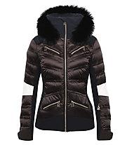 Toni Sailer Sibilla Fur - giacca da sci - donna, Dark Brown/Black