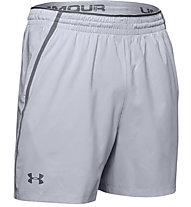 Under Armour 2-in-1 Qualifier - pantaloni corti fitness - uomo, Light Grey
