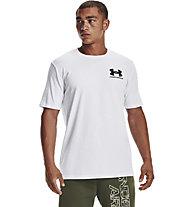 Under Armour ABC Camo Fill Wordmark - t-shirt fitness - uomo, White