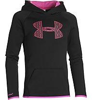 Under Armour Big Logo Hoody Fleece Mädchen, Black/Rebel Pink