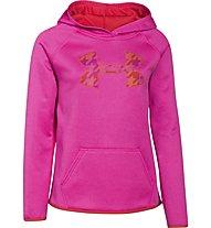 Under Armour Girls UA Armour Fleece Big Logo Hoody felpa ragazza, Rebel Pink