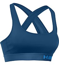 Under Armour Bra Crossback Mid Sport-BH, Blue Heroin