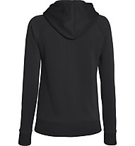 Under Armour Armour Fleece Full Zip Hoodie, Black/Ivory