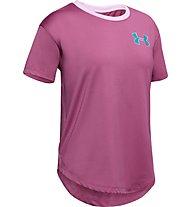 Under Armour Armour HeatGear - T-shirt fitness - bambina, Dark Pink