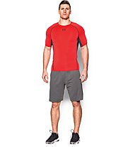 Under Armour HeadGear Kompressionsshirt Herren, Rocket Red/Black