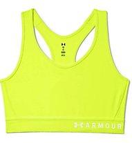 Under Armour Mid Keyhole - Sport BH mittlerer Halt - Damen, Yellow